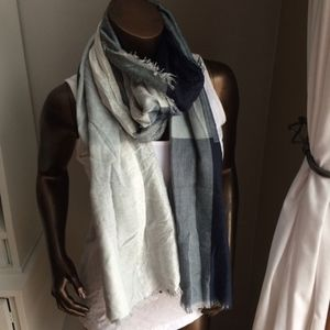 NEW Navy & Silver Large Scarf