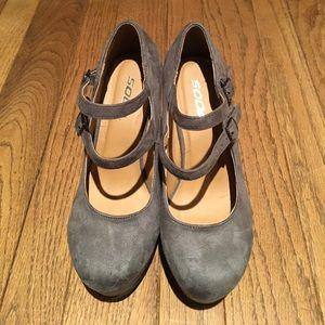 Shoes - Grey soda wedges