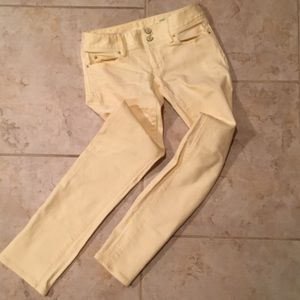Lilly Pulitzer Soft Yellow Jeans 0