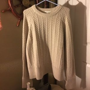 NWT H&M cream knitted sweater pullover