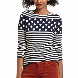 Anthropologie Sparrow Stacked Spots Sweater