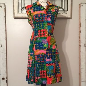 Vintage 60s Muriel Ryan Mod Dress