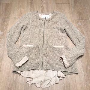 Anthropologie Zip Front Cardigan
