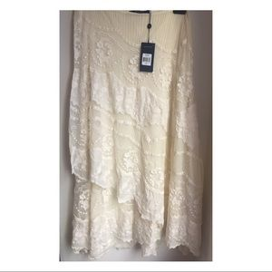 NWT Polo Ralph Lauren Maxi Lace Wrap Skirt Size 4