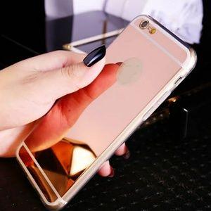 Rose gold luxury mirror iphone 7 case