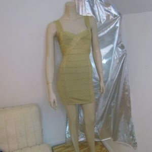 Forever 21 Gold Bodycon