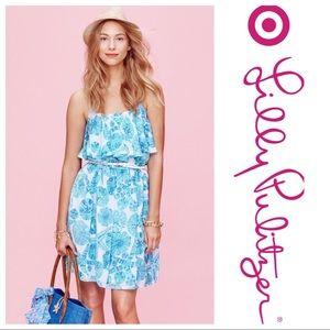 Lilly Pulitzer Target Satin Flounce Dress Size M