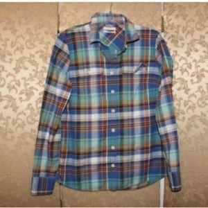 J. Crew Multi-Color Plaid Button Down Boy Shirt 4