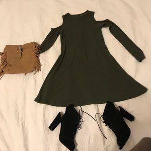 Two long sleeve Cold shoulder dresses