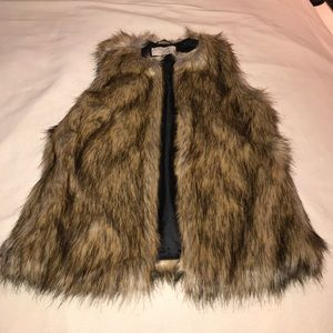 Zara Brown Fur Vest
