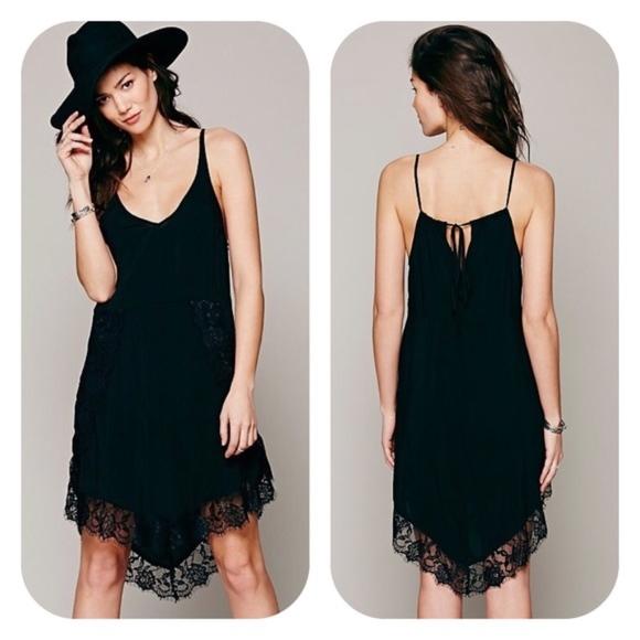 64e3681bd01d Free People Dresses   Skirts - FREE PEOPLE  Eyelashes  Lace Trim Slipdress