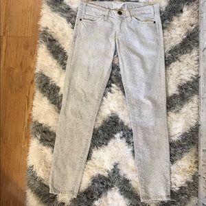 Current Elliot snakeskin print ankle jeans