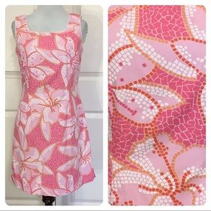 Lilly Pulitzer mosaic tile floral dress