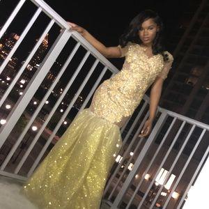 Dresses & Skirts - All gold prom dress