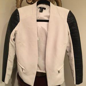 H&M Natural and black crop jacket