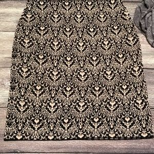 Chico's Damask Knit Pencil Skirt