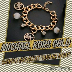 Womens Michael Kors crystal chain, Bangle Bracelet
