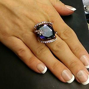 12cts AAA Purple & White Diamonds 316L Stainless