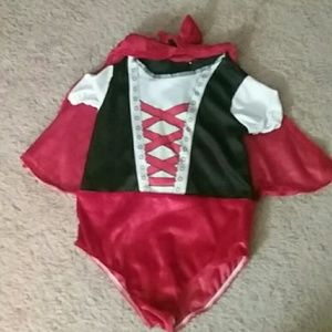 Other - Baby little red riding hood onsie constume w hood