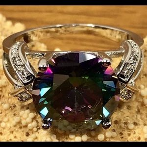 Sterling silver 4.0 ctw Natural Mystic Topaz