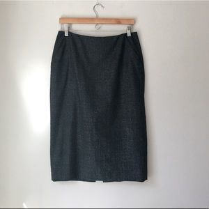 MAG Charcoal Wool Pencil Skirt