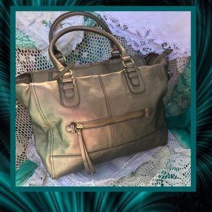 Gorgeous H&M Gold Satchel Purse GOOD CONDITION