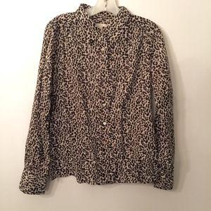 J. Crew Women's leopard print blouse