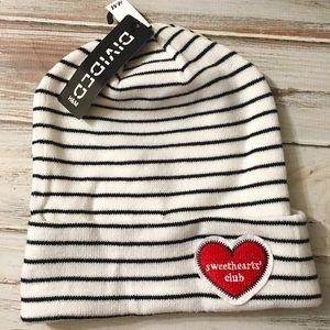 H&M Accessories - H&M NEW white and black striped beanie!❤️