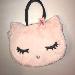 Betsey Johnson Bailey Plush Kitty Cat Purse