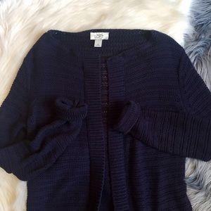 Ann Taylor Loft Navy Cardigan Sweater