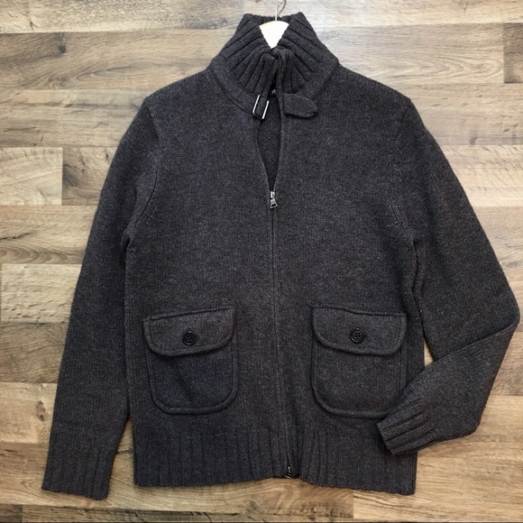 Banana Republic Other - Men's Cashmere Wool Brown zipper jacket M