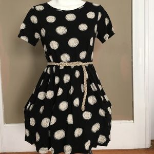 Cotton polkadot babydoll dress