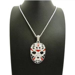 Other - White Gold 21 Savage Gang Hip Hop Mask Pendant NEW