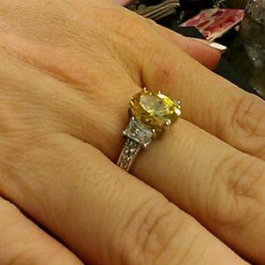 5.35cts AAA Yellow & White Diamonds 925 Silver