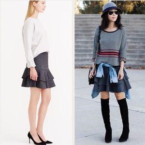 J. Crew Wool Ruffle Skirt