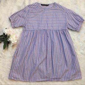 Zara Striped Babydoll Dress