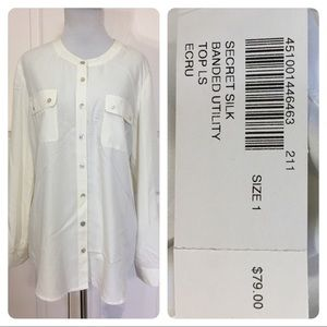 NWT! Chico's banded utility top