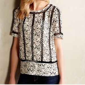 Meadow Rue for Anthropologie Lovebirds Blouse