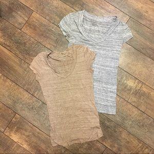 Merona Shirt Bundle - Heather Stripes - Small