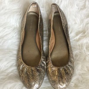 ✨Negotiable on Price✨ Banana Republic Gold Flats