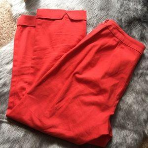 Ann Taylor Loft stretch red pants.