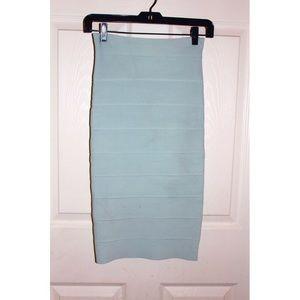 BCBGMAXAZRIA Teal Leger Bandage Skirt