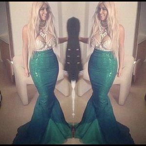 Sequin mermaid costume skirt