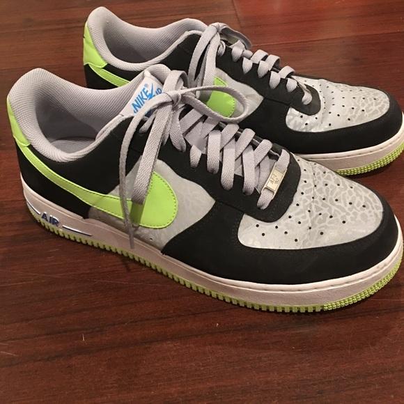 6f3c23cf6ab9 Nike Air Force 1 Low Reflect Silver Volt Black