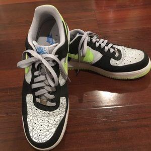 09bd6e4fa2ec Nike Shoes - Nike Air Force 1 Low Reflect Silver Volt Black