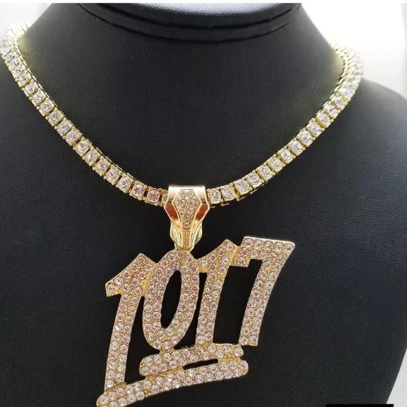df162592c48 1017 Gucci Mane Hip Hop Pendant Tennis Chain ICEY