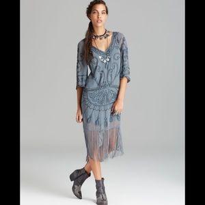 NWOT FP Livin' The Fringe Life Shift Dress