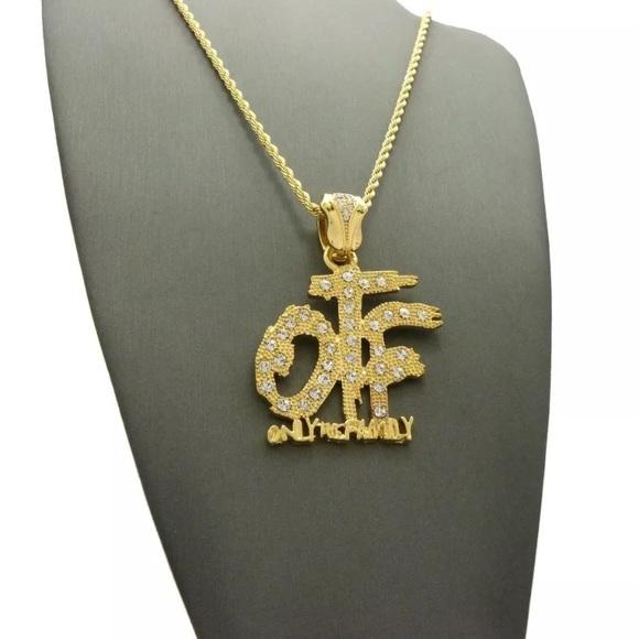 Accessories otf mens hip hop gold chain pendant cz iced out poshmark otf mens hip hop gold chain pendant cz iced out aloadofball Gallery