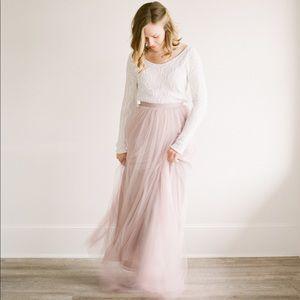 BHLDN size 6 tulle skirt