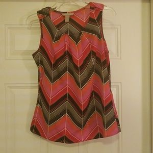 Banana Republic Pintuck Chevron Top